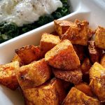Spicy Sweet Potatoes mit Spinat