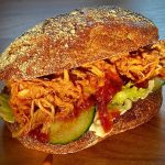 Pulled Chicken BBQ Burger